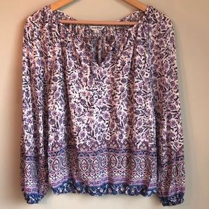 Lucky brand floral tunic size Small